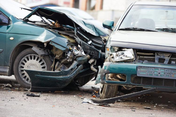 To biler som har kollidert